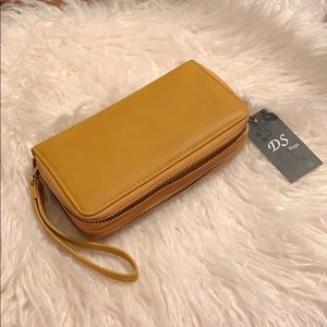 Handbags - DS Bags Mustard Yellow Wallet/Wristlet